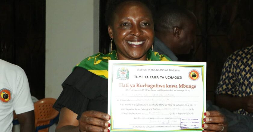 DKT FLORENCE SAMIZI (CCM) ASHINDA UBUNGE JIMBO LA MUHAMBWE